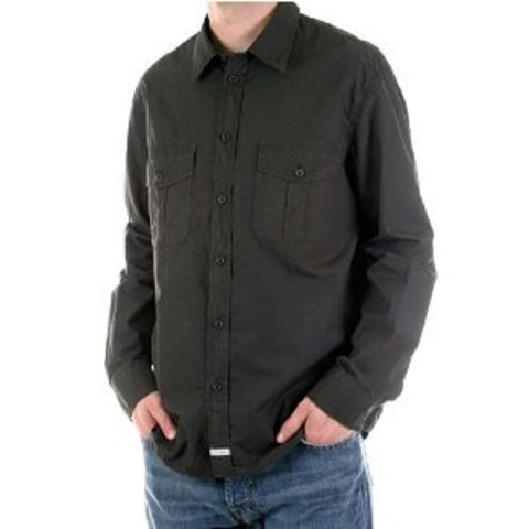 CP Company long sleeve mens washed charcoal Shirt