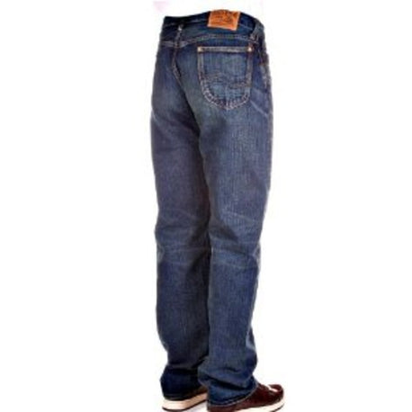Sugar Cane Mens Dark Blue Hard Wash Vintage Cut Jeans