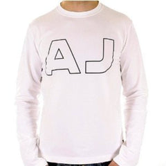 White Armani Jeans long sleeve crew neck t-shirt