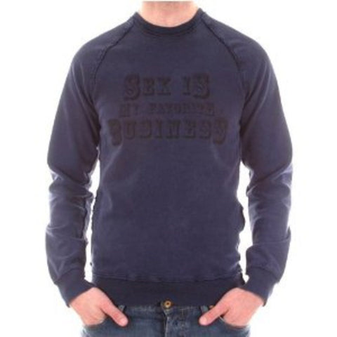 D&G sweatshirt Dolce & Gabbana long sleeve washed indigo sweatshirt - Kitmeout