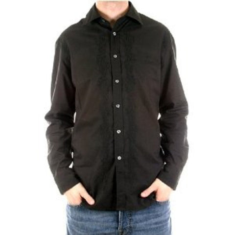 Paul Smith shirt mens black long sleeve shirt - Kitmeout