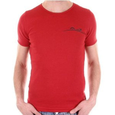 Armani red crew neck slim fit t-shirt