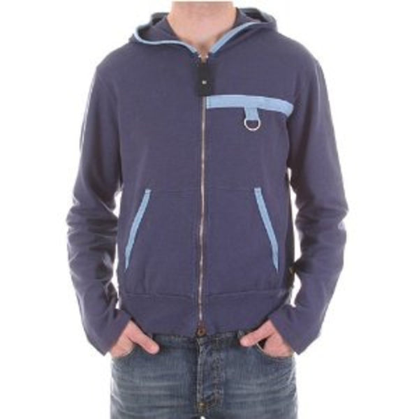 Armani Jeans mens zipped blue hoody made in Italy