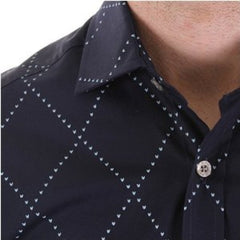Pringle mens shirt long sleeve dark navy shirt - Kitmeout