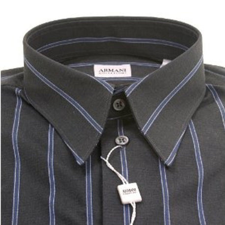 Armani mens grey pointed collar classic shirt