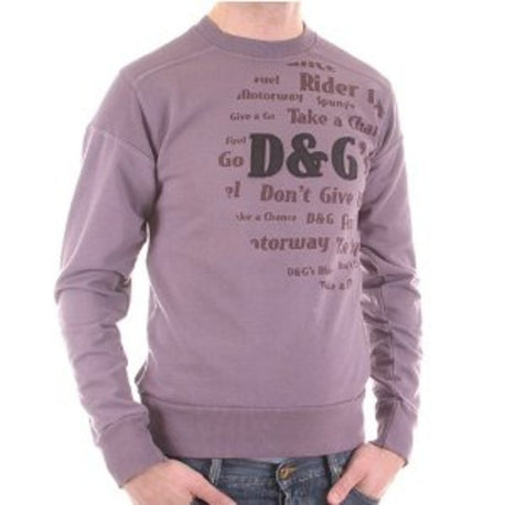 D&G sweat shirt Dolce & Gabbana long sleeve lilac sweatshirt - Kitmeout