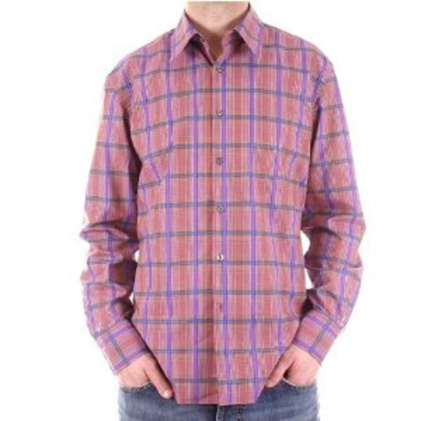 Paul Smith shirt mens long sleeve check shirt - Kitmeout