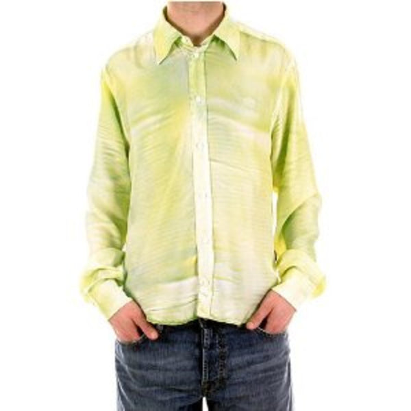 Versace mens shirts silk long sleeve shirt