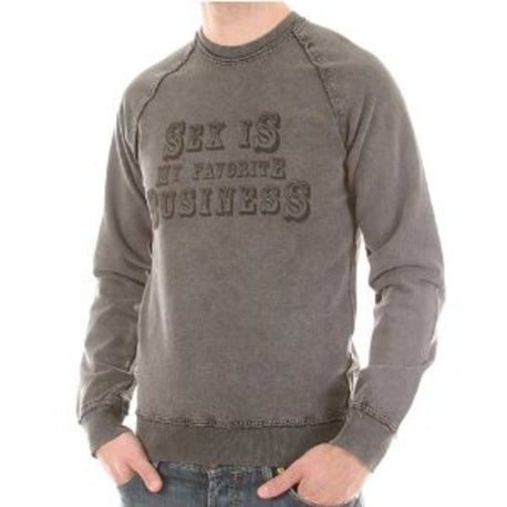 D&G t-shirt Dolce & Gabbana long sleeve washed charcoal sweatshirt - Kitmeout