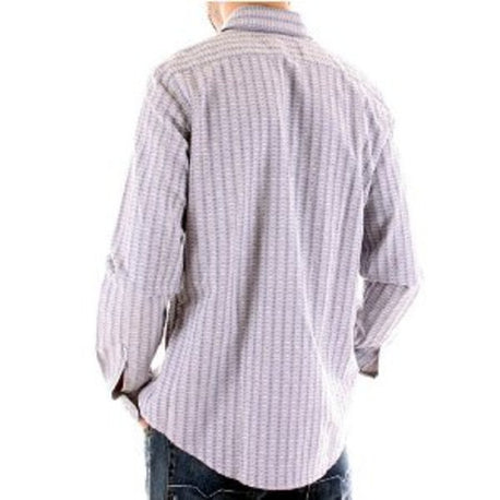 Armani Eco wash woven stripe shirt made in Italy. Eco-fashion