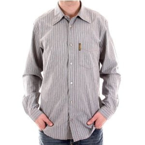 Armani Jeans striped grey shirt made in Italy - Kitmeout