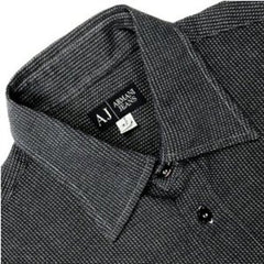 Armani Men's Navy shirt 100% cotton
