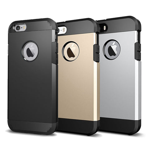 Tough Armor Dual Layer Hybrid Phone Cases for iPhone 6 6s Plus Cover Case 5s 5 se Coque 7 Plus Fundas Silicone Apple Accessories