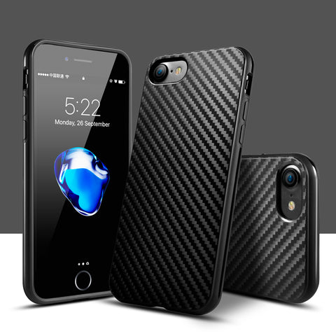 KolPler soft TPU case for iPhone. Anti-Knock Texture Silicone cover