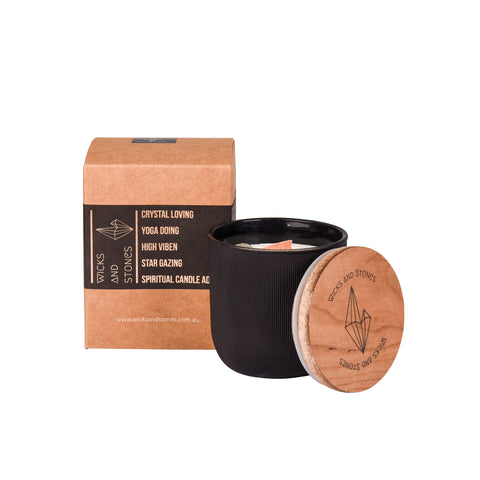 Yang- Black. Morrocan Sandalwood, Leather + Oak