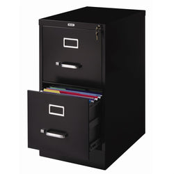 2-Drawer Vertical Filing File Cabinet with Lock in Black Metal, Office > Filing Cabinets, Jimis Country Store - Jimis Country Store