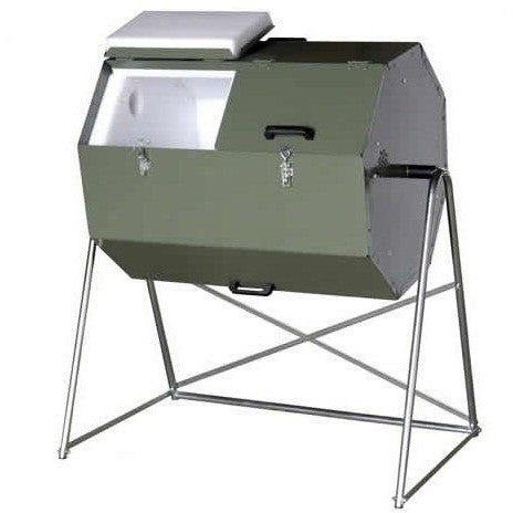70 Gallon Tumbling Compost Bin Tumbler, Outdoor > Gardening > Compost Bins, Jimis Country Store - Jimis Country Store