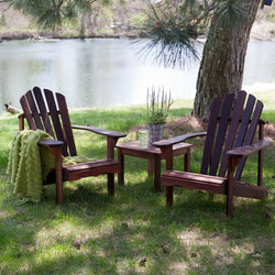 3-Piece Patio Furniture Set - 2 Adirondack Chairs and Side Table, Outdoor > Outdoor Furniture > Adirondack Chairs, Jimis Country Store - Jimis Country Store