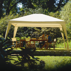 12Ft x 10Ft Folding Gazebo with Carry Bag in Camel, Outdoor > Gazebos & Canopies, Jimis Country Store - Jimis Country Store