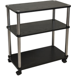 3-Shelf Mobile Home Office Caddy Printer Stand Cart in Black, Office > Printer Stands, Jimis Country Store - Jimis Country Store