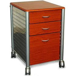 Modern 3-Drawer Filing Cabinet with Casters in Cherry Wood Finish, Office > Filing Cabinets, Jimis Country Store - Jimis Country Store