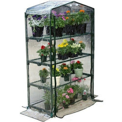 4-Tier Growing Rack Planter Stand Greenhouse with Thermal Cover, Outdoor > Gardening > Greenhouses, Jimis Country Store - Jimis Country Store