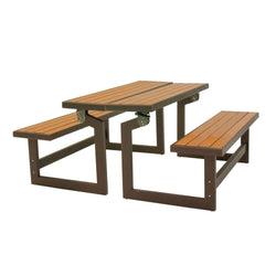 Metal and Wood Park Style Bench for Outdoor Patio Lawn Garden, Outdoor > Outdoor Furniture > Garden Benches, Jimis Country Store - Jimis Country Store