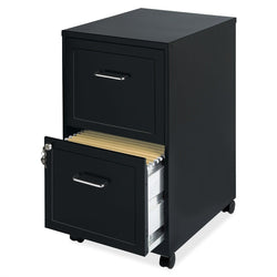 Black Metal 2-Drawer Filing Cabinet with Rolling Casters / Wheels, Office > Filing Cabinets, Jimis Country Store - Jimis Country Store
