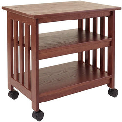 Mission Style Wooden TV / Printer Stand Cart in Chestnut Finish, Office > Printer Stands, Jimis Country Store - Jimis Country Store