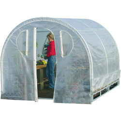 Polytunnel Hoop House Style Greenhouse (8' x 8'), Outdoor > Gardening > Greenhouses, Jimis Country Store - Jimis Country Store
