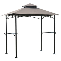 8-Ft x 8-Ft Steel Frame Outdoor Grilling Gazebo with Vent Top Canopy, Outdoor > Gazebos & Canopies, Jimis Country Store - Jimis Country Store