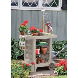 Outdoor Portable Potting Bench Gardening Station Utility Bin, Outdoor > Gardening > Potting Benches, Jimis Country Store - Jimis Country Store