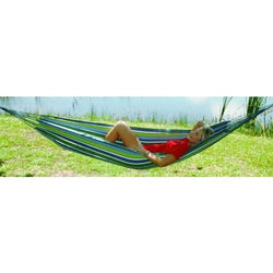 Multicolored Stripes Comfortable Cotton Hammock 40 x 120 inches, Outdoor > Outdoor Furniture > Hammocks, Jimis Country Store - Jimis Country Store