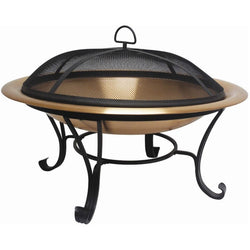 Large 35-inch Copper Bowl Fire Pit with Steel Stand and Cover, Outdoor > Outdoor Decor > Fire Pits, Jimis Country Store - Jimis Country Store