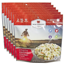 Wise Food Creamy Chicken Pasta Cook in the Pouch - 6 PACK, , Wise Company - Jimis Country Store
