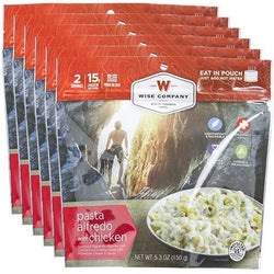 Wise Food Pasta Alfredo Cook in the Pouch - 6 PACK, , Wise Company - Jimis Country Store