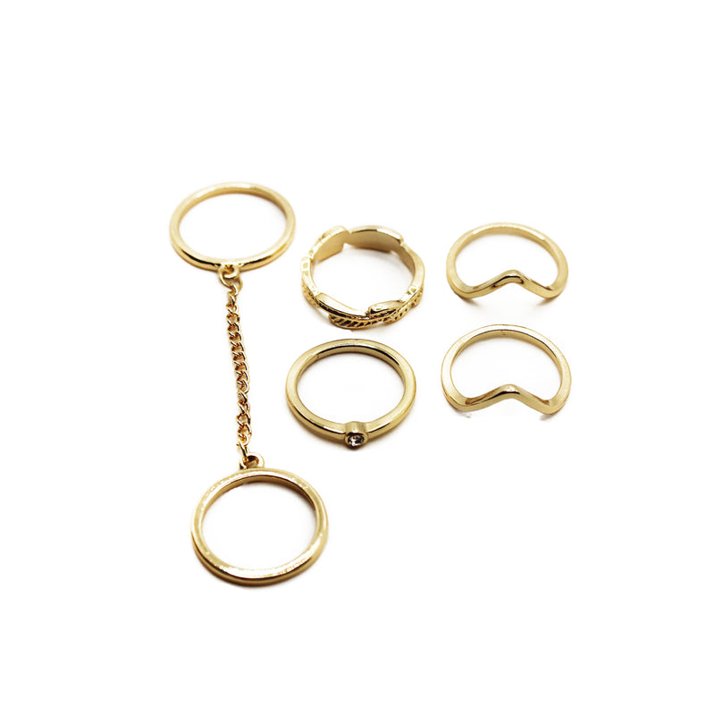 San Francisco Mid-Finger Ring Set