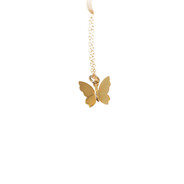 Butterfly Charm Gold Filled Necklace
