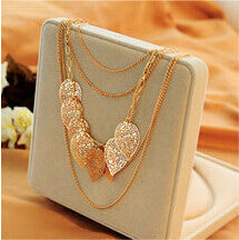 Multi Layered Leaf Necklace