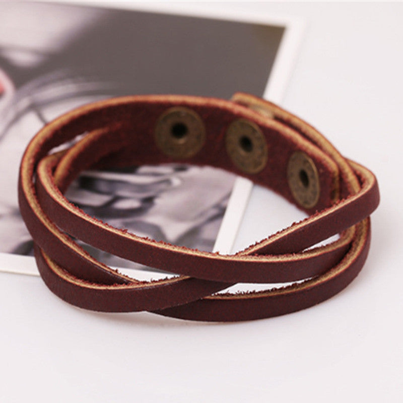 Enchanted Forest Leather Wrap Bracelet