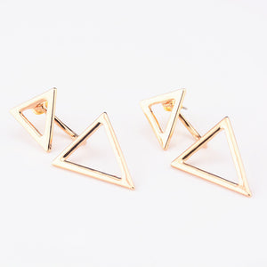 Double Trouble Triangle Earrings