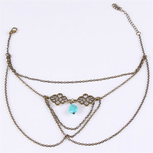 Turquoise Upper Arm Chain