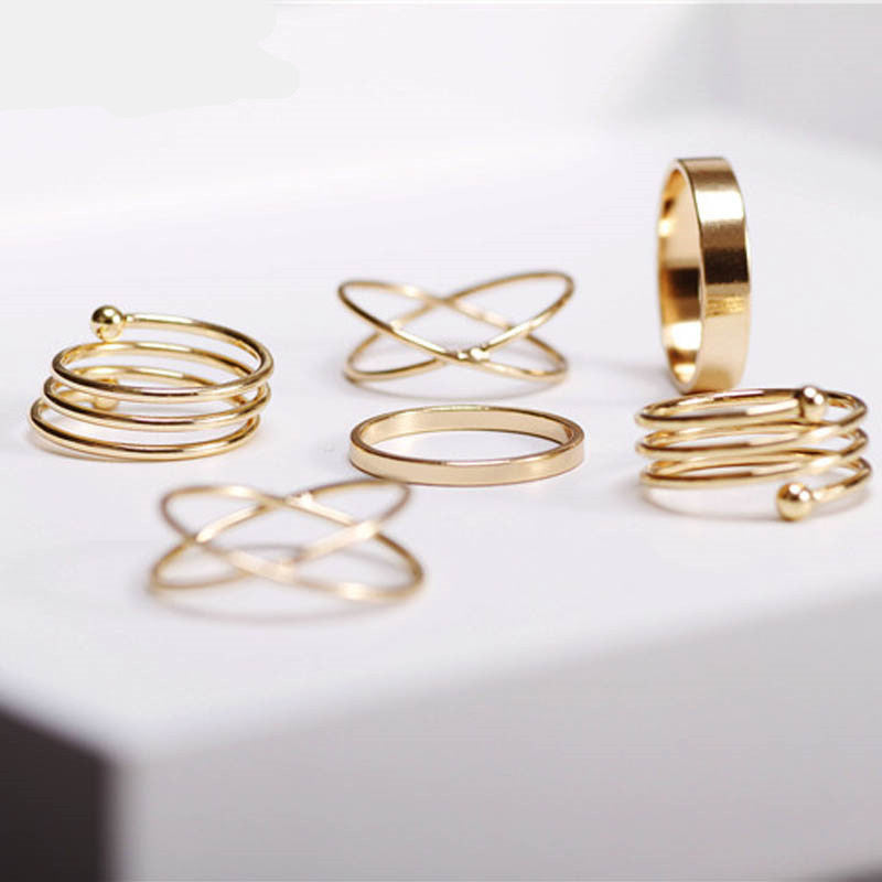 All That Glitters Is Gold Ring Set