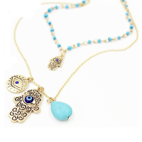 Hamsa Jerusalem Maxi Necklace