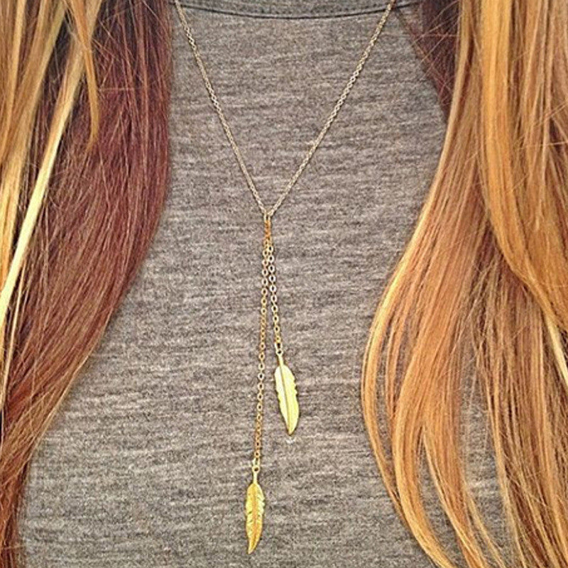 Twice Feathered Necklace