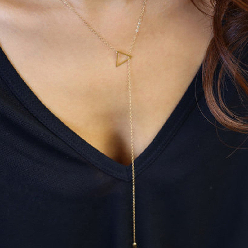 Right Angle Maxi Necklace
