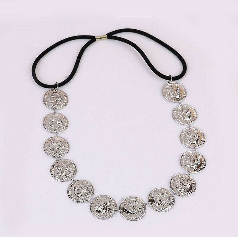 Sheva Vintage Coin Headpiece