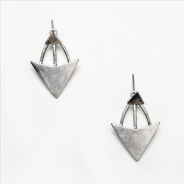 Vintage Triangle Dangle Earrings