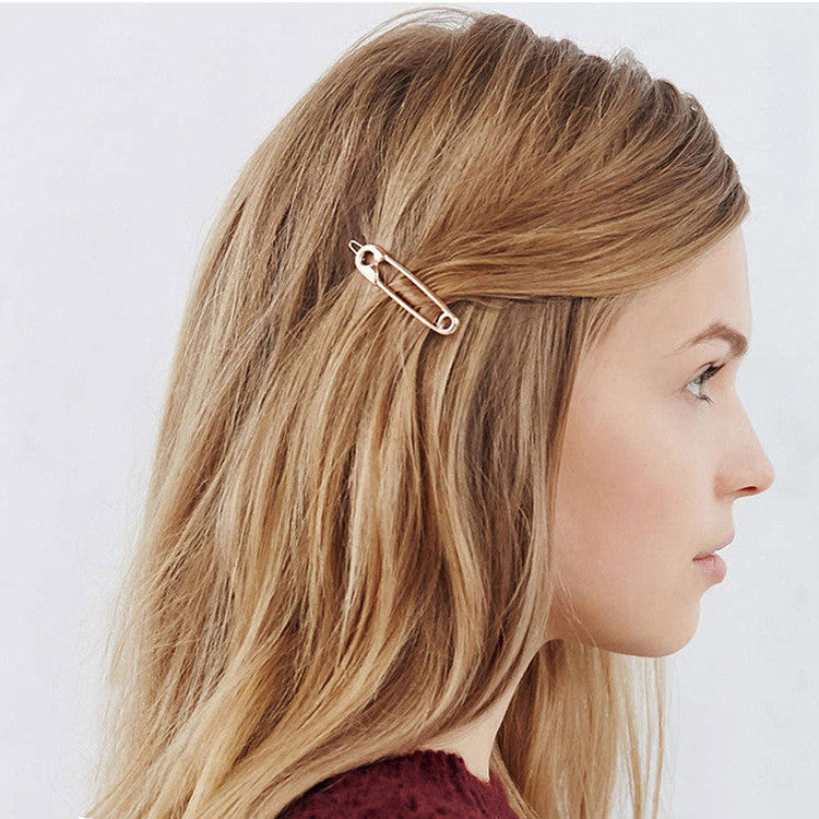 Boho Safety Pin Hair Clip