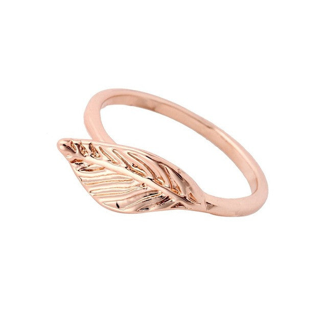Golden Leaf Ring